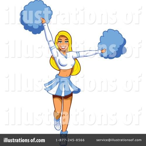 small resolution of royalty free rf cheerleader clipart illustration by clip art mascots stock sample