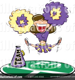 royalty free rf cheerleader clipart illustration 70720 by jtoons [ 1024 x 1024 Pixel ]