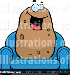 royalty free rf couch potato clipart illustration by cory thoman stock sample [ 1024 x 1024 Pixel ]
