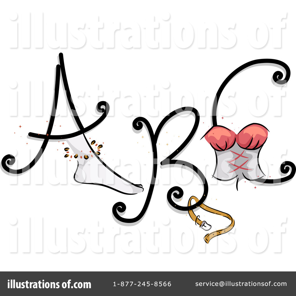 hight resolution of royalty free rf feminine letters clipart illustration 1112316 by bnp design studio
