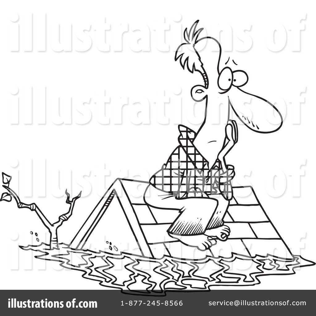 flood disaster Colouring Pages