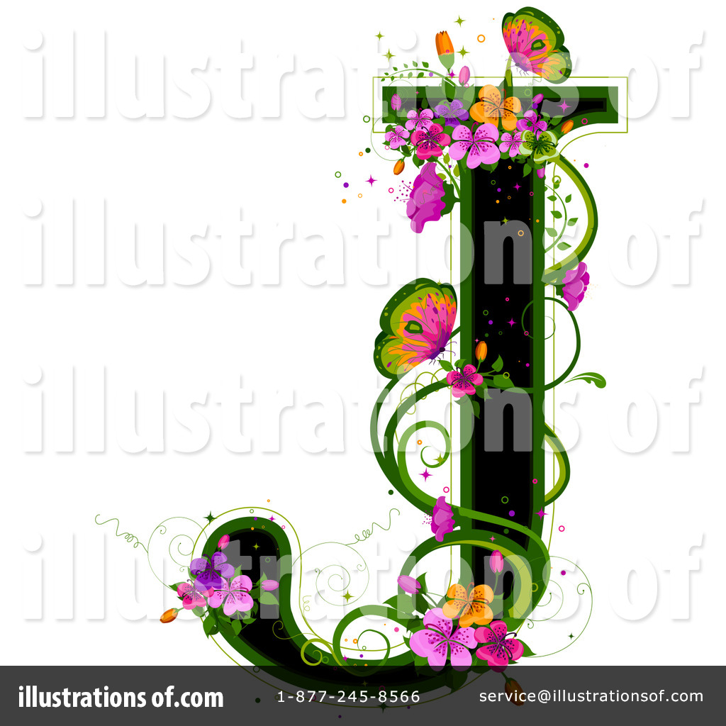 hight resolution of royalty free rf floral letter clipart illustration 84547 by bnp design studio