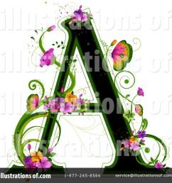 royalty free rf floral letter clipart illustration 84564 by bnp design studio [ 1024 x 1024 Pixel ]