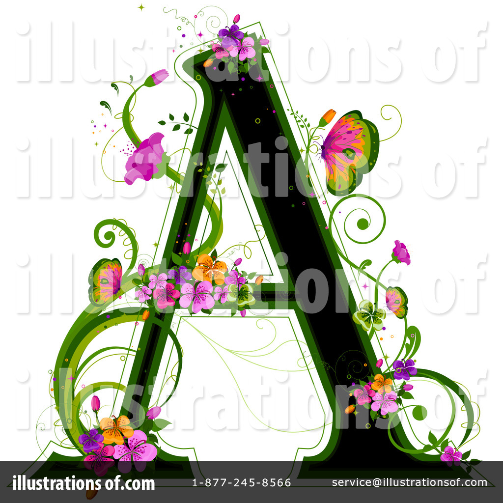 hight resolution of royalty free rf floral letter clipart illustration 84564 by bnp design studio
