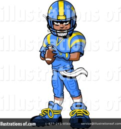 royalty free rf football player clipart illustration 1517264 by clip art mascots [ 1024 x 1024 Pixel ]
