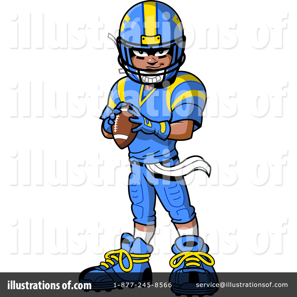 hight resolution of royalty free rf football player clipart illustration 1517264 by clip art mascots
