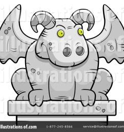 royalty free rf gargoyle clipart illustration 94414 by cory thoman [ 1024 x 1024 Pixel ]