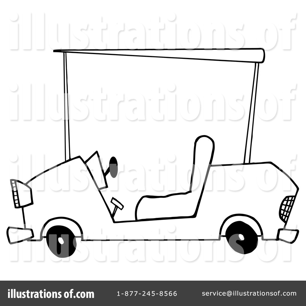 Free golf carts coloring pages