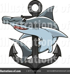 royalty free rf hammerhead shark clipart illustration 1421197 by vector tradition sm [ 1024 x 1024 Pixel ]