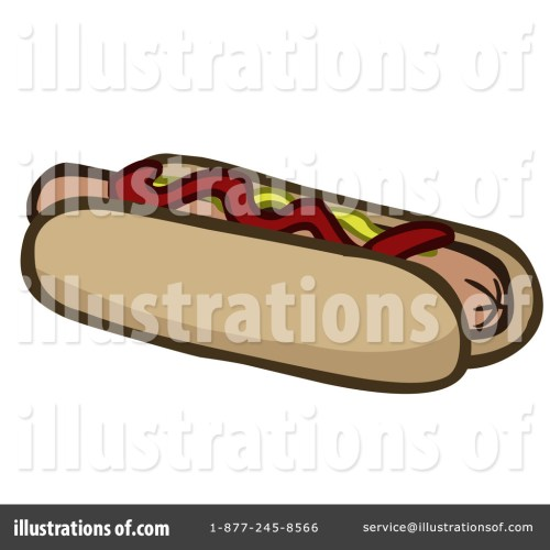 small resolution of royalty free rf hot dog clipart illustration by cartoon solutions stock sample