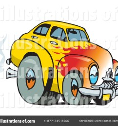 royalty free rf hot rod clipart illustration 65659 by dennis holmes designs [ 1024 x 1024 Pixel ]
