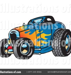 royalty free rf hot rod clipart illustration 65660 by dennis holmes designs [ 1024 x 1024 Pixel ]
