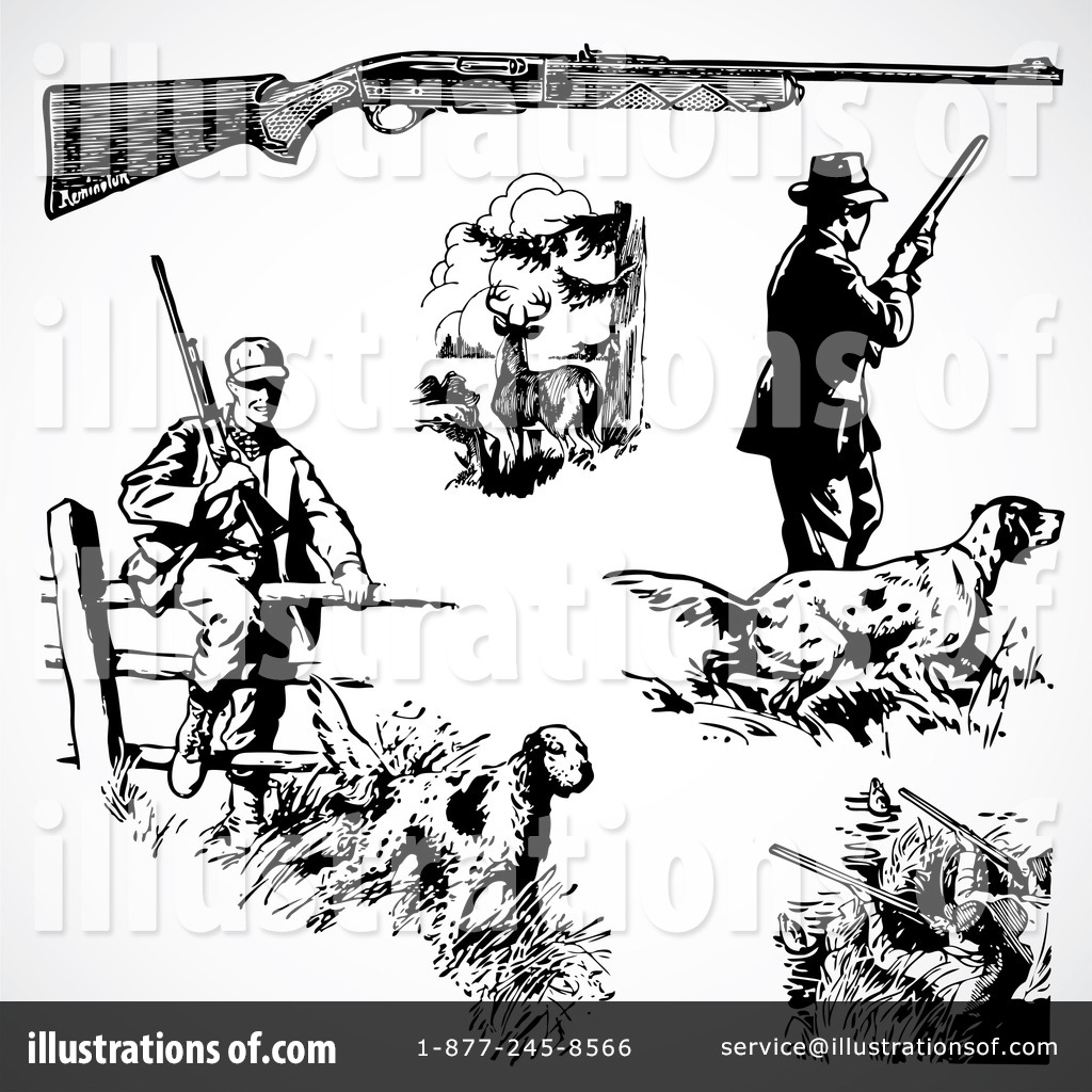 hight resolution of royalty free rf hunting clipart illustration 210473 by bestvector