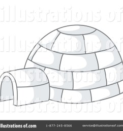 royalty free rf igloo clipart illustration 63056 by rosie piter [ 1024 x 1024 Pixel ]