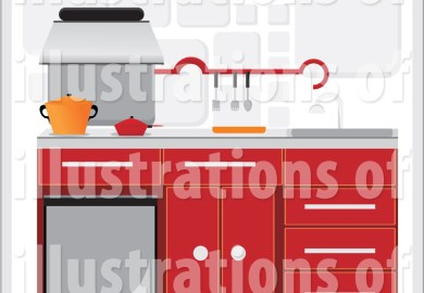 Kitchen Cabinets Clipart Black And White