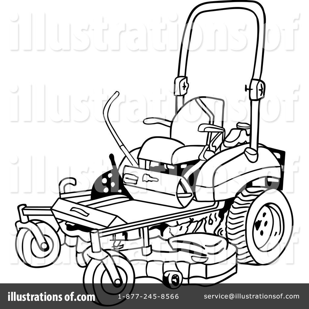 Clipart Of Riding Lawn Mower