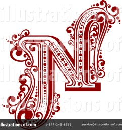 royalty free rf letter n clipart illustration 1184758 by vector tradition sm [ 1024 x 1024 Pixel ]