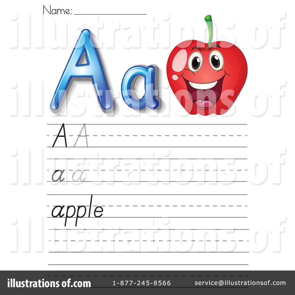 hight resolution of Letter Worksheet Clipart #1118916 - Illustration by Graphics RF