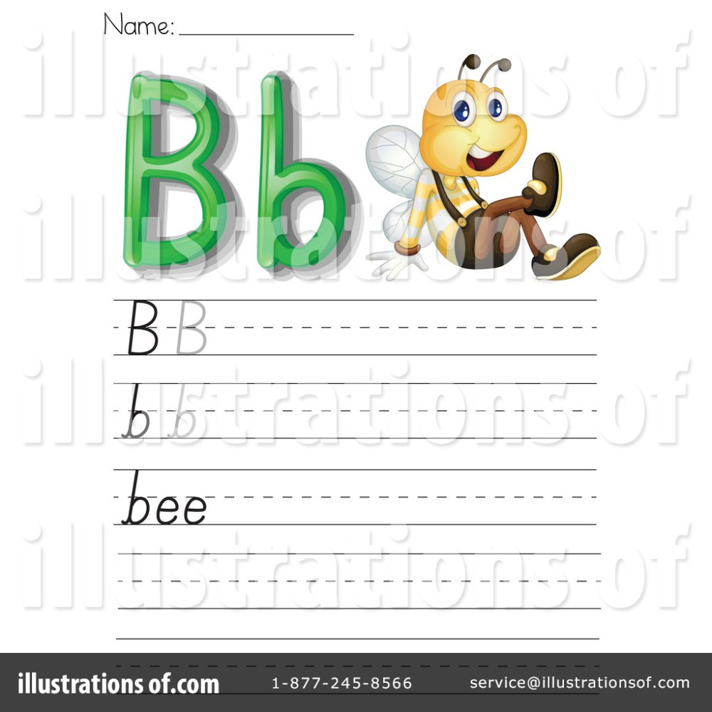 medium resolution of Letter Worksheet Clipart #1118917 - Illustration by Graphics RF