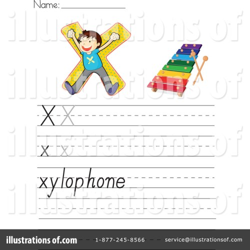 small resolution of Letter Worksheet Clipart #1118963 - Illustration by Graphics RF