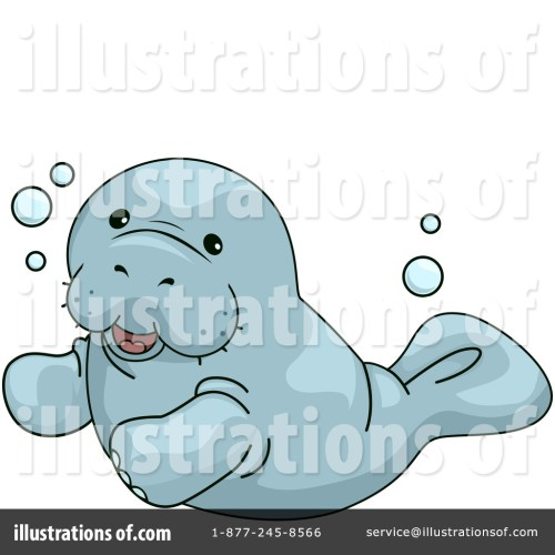 small resolution of royalty free rf manatee clipart illustration by bnp design studio stock sample