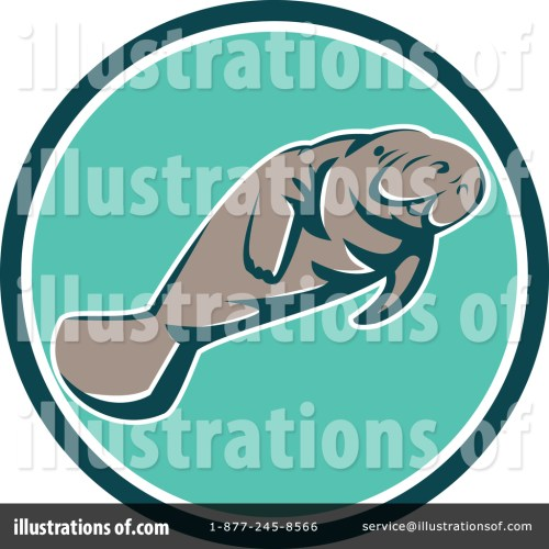 small resolution of royalty free rf manatee clipart illustration 1400974 by patrimonio