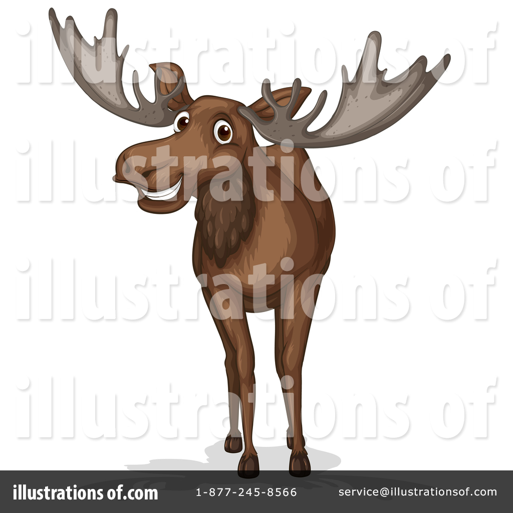 hight resolution of moose clipart