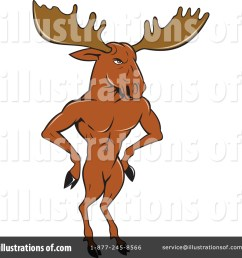 royalty free rf moose clipart illustration 1391274 by patrimonio [ 1024 x 1024 Pixel ]