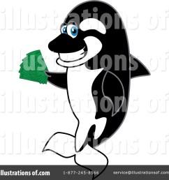 royalty free rf orca mascot clipart illustration 1439831 by toons4biz [ 1024 x 1024 Pixel ]