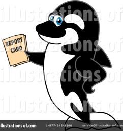 royalty free rf orca mascot clipart illustration 1439841 by toons4biz [ 1024 x 1024 Pixel ]