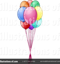 royalty free rf party balloons clipart illustration by liron peer stock sample [ 1024 x 1024 Pixel ]