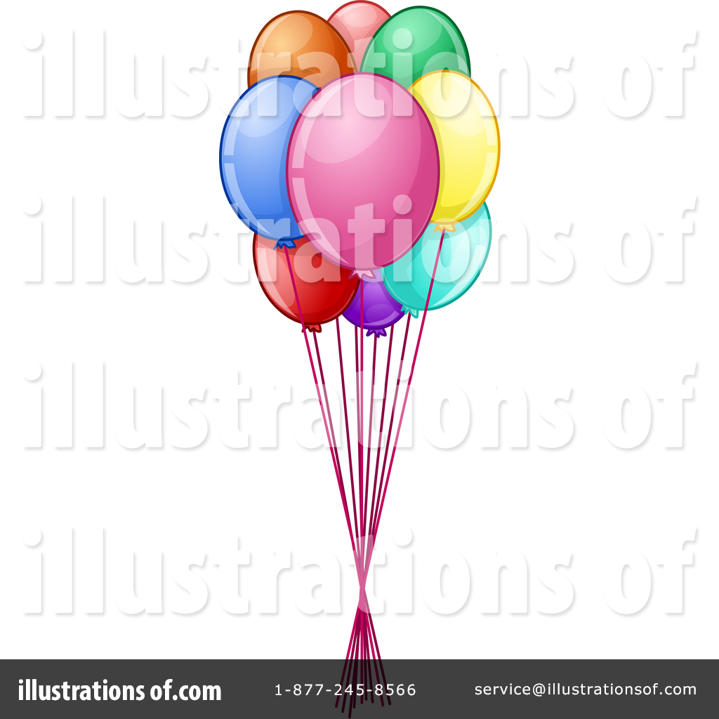hight resolution of royalty free rf party balloons clipart illustration by liron peer stock sample