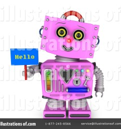 royalty free rf pink robot clipart illustration 1366798 by stockillustrations [ 1024 x 1024 Pixel ]