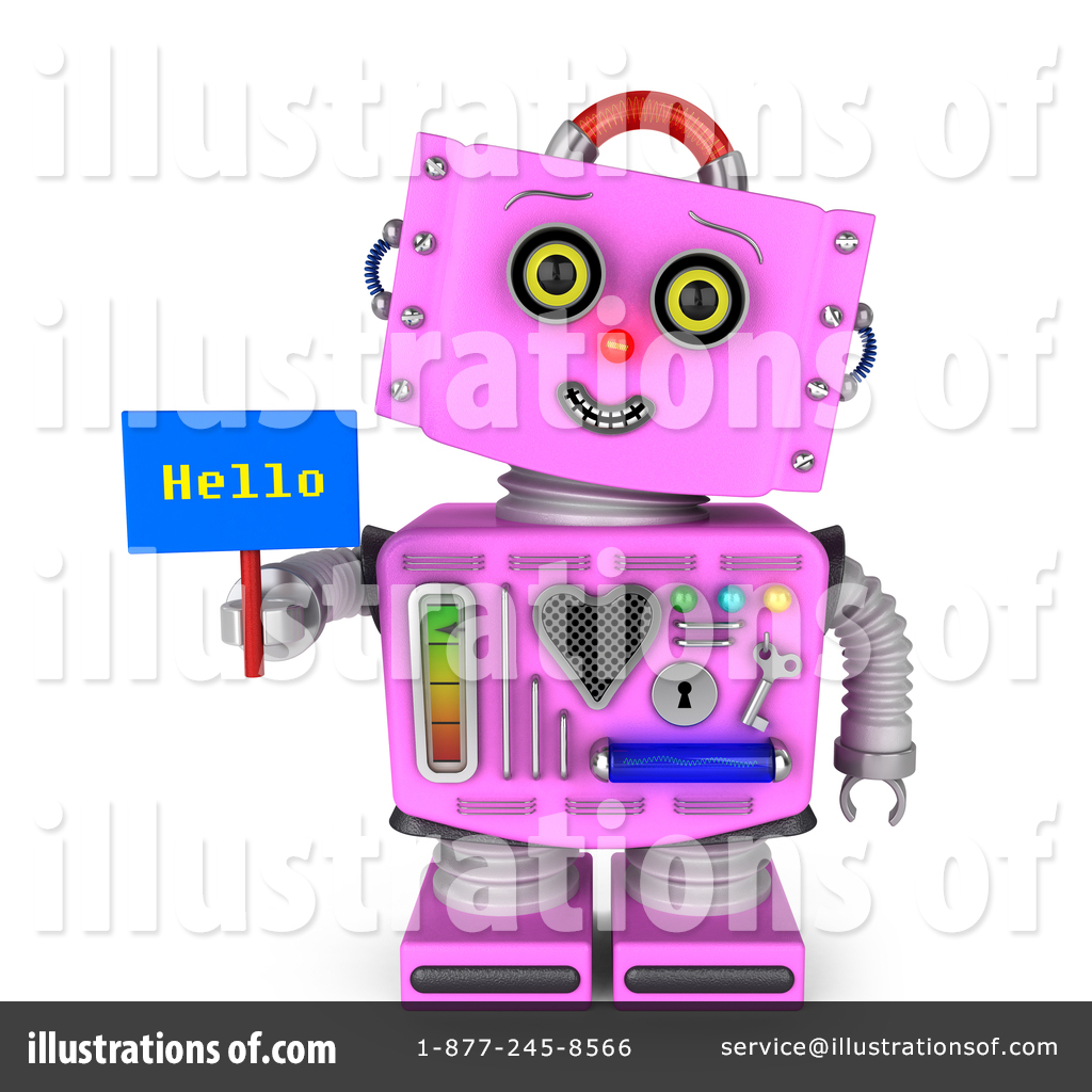 hight resolution of royalty free rf pink robot clipart illustration 1366798 by stockillustrations