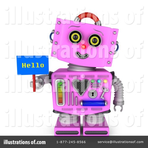 small resolution of royalty free rf pink robot clipart illustration 1366798 by stockillustrations