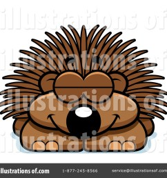 royalty free rf porcupine clipart illustration 1098164 by cory thoman [ 1024 x 1024 Pixel ]