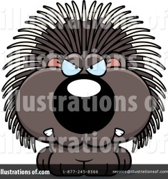 royalty free rf porcupine clipart illustration 1200167 by cory thoman [ 1024 x 1024 Pixel ]