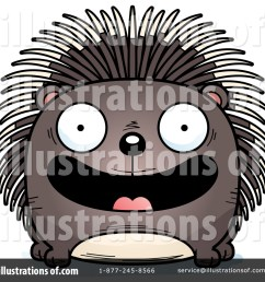 royalty free rf porcupine clipart illustration 1450725 by cory thoman [ 1024 x 1024 Pixel ]