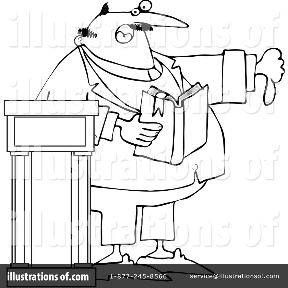 medium resolution of royalty free rf preacher clipart illustration 1054359 by djart