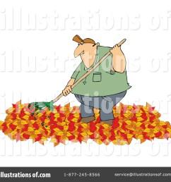 royalty free rf raking leaves clipart illustration 1182613 by djart [ 1024 x 1024 Pixel ]