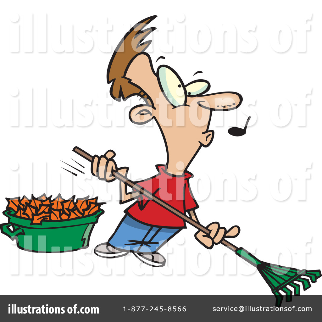hight resolution of royalty free rf raking leaves clipart illustration 441601 by toonaday