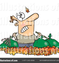 royalty free rf raking leaves clipart illustration 441610 by toonaday [ 1024 x 1024 Pixel ]