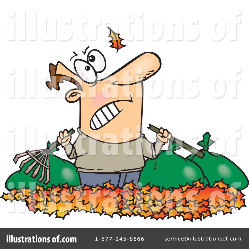 hight resolution of royalty free rf raking leaves clipart illustration 441610 by toonaday