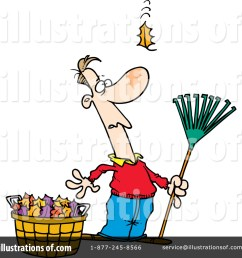 royalty free rf raking leaves clipart illustration 441907 by toonaday [ 1024 x 1024 Pixel ]