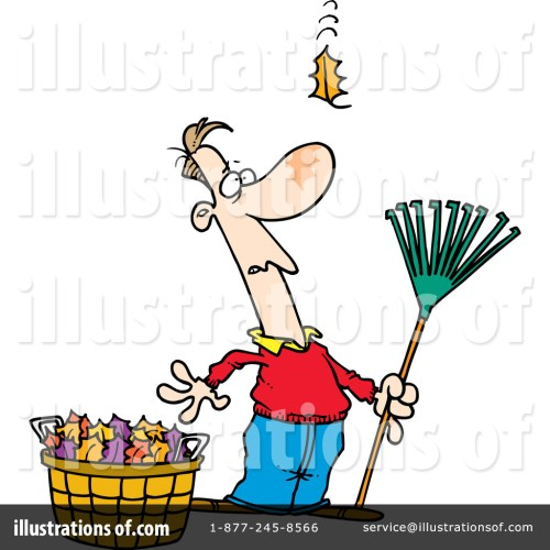 small resolution of royalty free rf raking leaves clipart illustration 441907 by toonaday