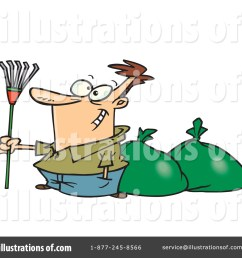 royalty free rf raking leaves clipart illustration 443604 by toonaday [ 1024 x 1024 Pixel ]