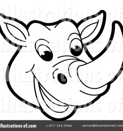 royalty free rf rhino clipart illustration 1472520 by lal perera [ 1024 x 1024 Pixel ]