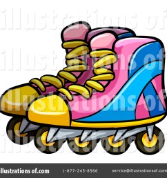 royalty free rf roller blades clipart illustration by graphics rf stock sample [ 1024 x 1024 Pixel ]