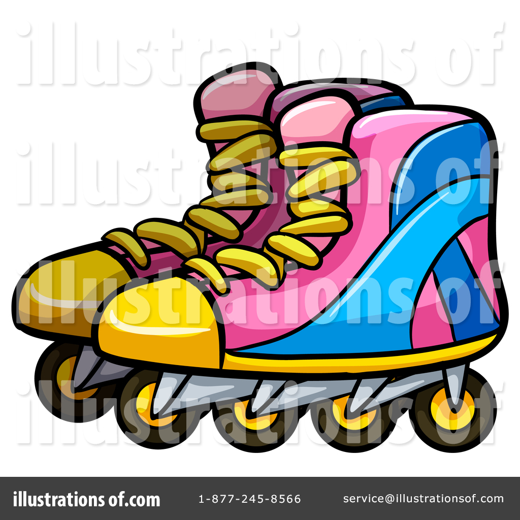 hight resolution of royalty free rf roller blades clipart illustration by graphics rf stock sample