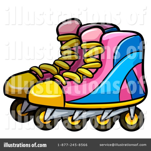 small resolution of royalty free rf roller blades clipart illustration by graphics rf stock sample